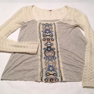 Free People Sweater Boho top women's Knit S/P